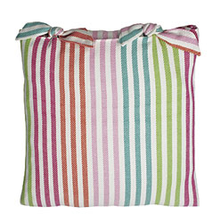 calypso striped cushion with ties