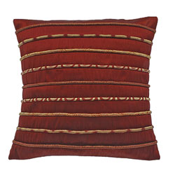 havelli rope cushion cover red