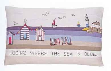 scrapbook cushion seaside