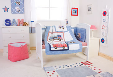 fire engines nursery bed set