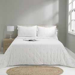 madison white bedspread