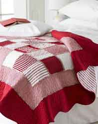 patchwork quilts from linen lace and patchwork