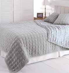 vendome velvet grey bedspread