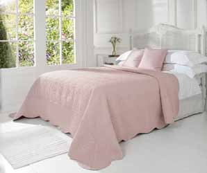 victoria french rose quilted bedspread
