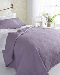 corinthia mauve quilted bedpspread