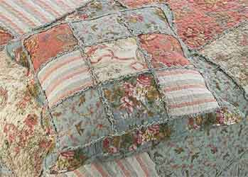 grace patchwork sham