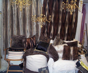 leopard and wolf faux fur throw