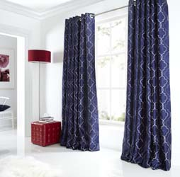 midtown blue eyelet curtains