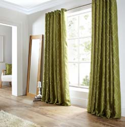 midtown green eyelet curtains