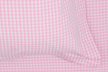 pink gingham bedding for girls
