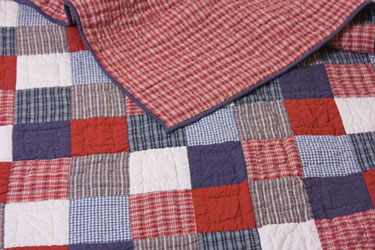 tartain patchwork bedspread for boys