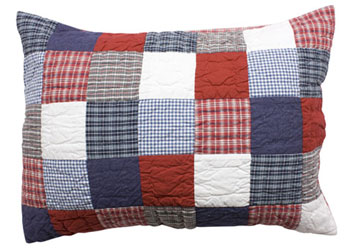 tartan patchwork pillow sham