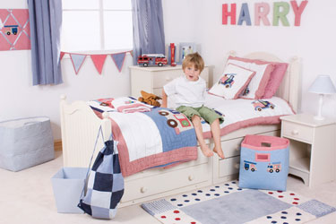 fire engines boys bed linen