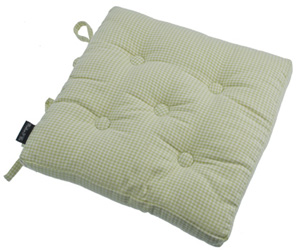 auberge french green buttoned seat pad