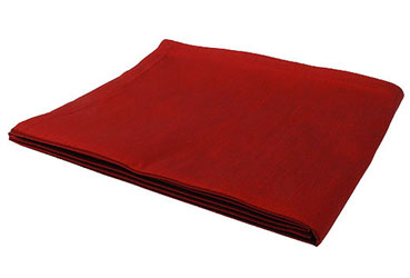 Dupion red tablecloth ideal for Christmas Dinner table settings