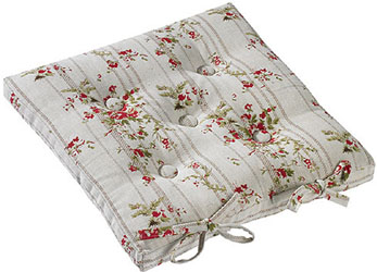 rose cottage buttoned seat pad