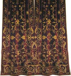 chatsworth claret velvet curtain