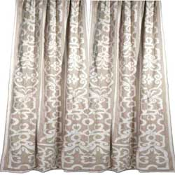leopold linen applique curtains