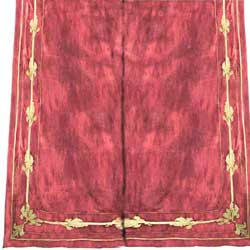 tate velvet curtain terracotta