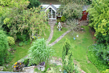 aerial view of my beautiful garden