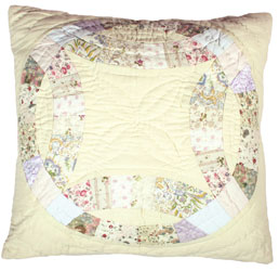 double wedding ring cushion cover