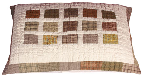 blocks patchwork pillow sham