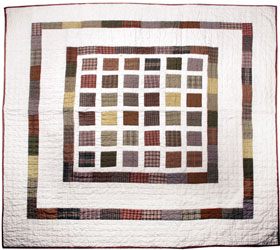 blocks patchwork throw