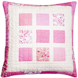 blocks patchwork cushion cover