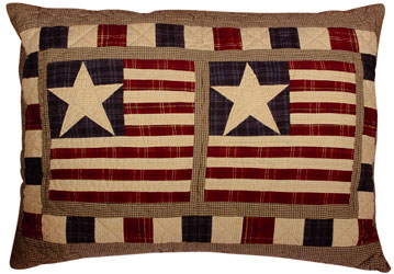 stars and stripes pillow sham