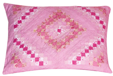 trip around the worrld patchwork pillow sham