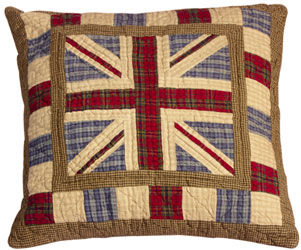 union jack patchwork cushion cover