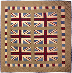 union jack patchwork tthrow