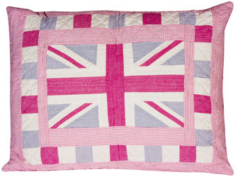 union jack pillow sham