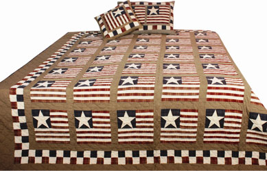 stars and stripes patchwork quilt