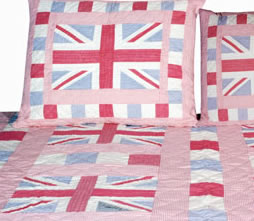 union jack pink patchwork