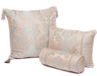 carrington linen range of cushions, large, rectangular and neck roll bolster