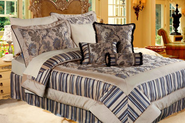 mexico damask bedspread with matching curtains and valance