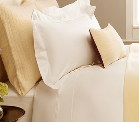cream 400 thread count percale cotton range of duvet covers, flat sheets, fitted sheets and oxford pillowcases