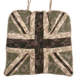 union jack camouflage print chunky seat pad