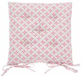 geometric coral buttoned seat pad