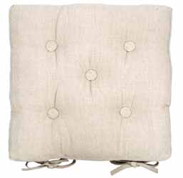 metro linen buttoned seat pad