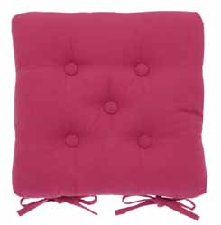 metro raspberry buttoned seat pad