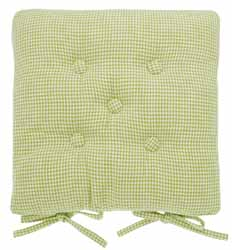 mini gingham buttoned seat pad