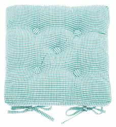 mini gingham ocean buttoned seat pad