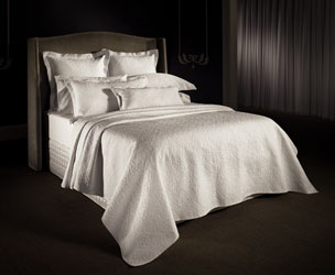 lawlor white sateen quilted  bedspread