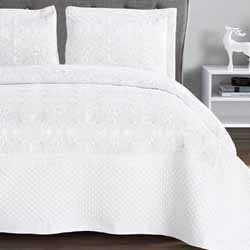 harvard silver embroidered bedspread