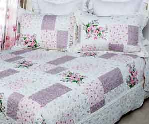 peony rose patchwork quilt