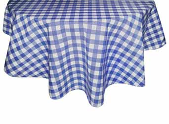 gingham blue tablecloth