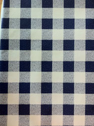 blue gingham check oilcloth