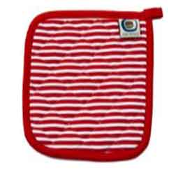 candy cane red striped pot holder